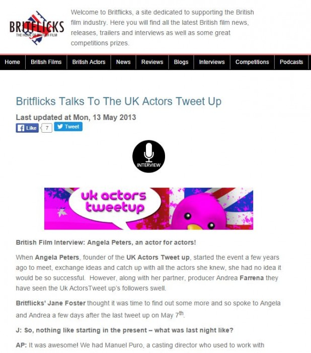 britflicks talks to the uk actors tweetup
