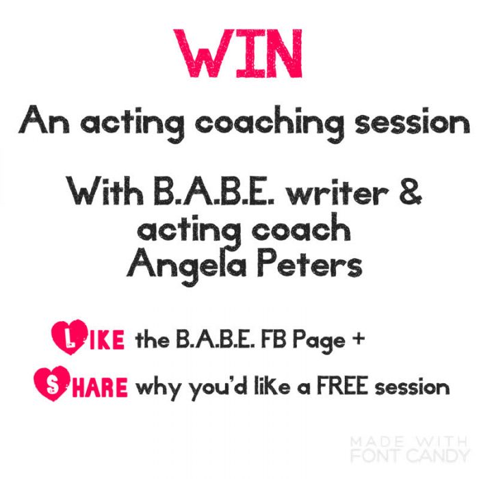 win an acting mentoring session