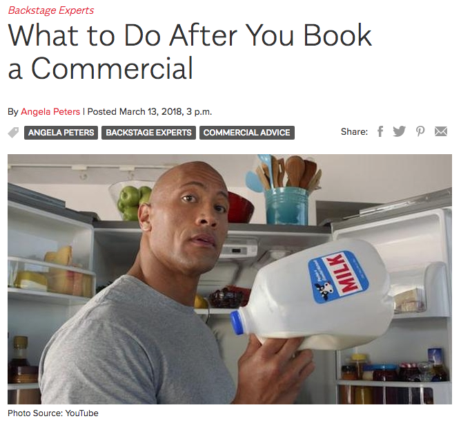 What to do once you book a commercial