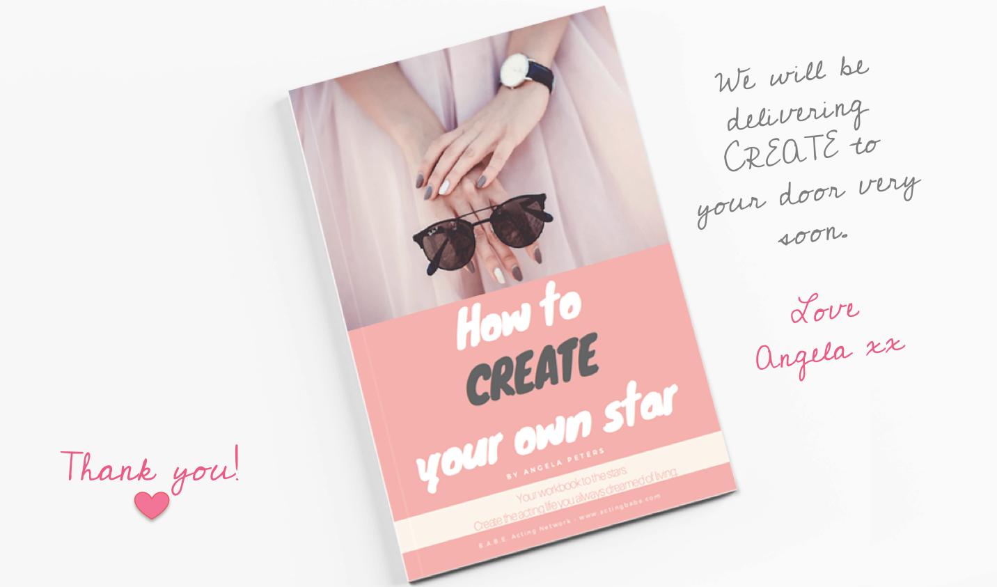 THANK YOU CREATE book