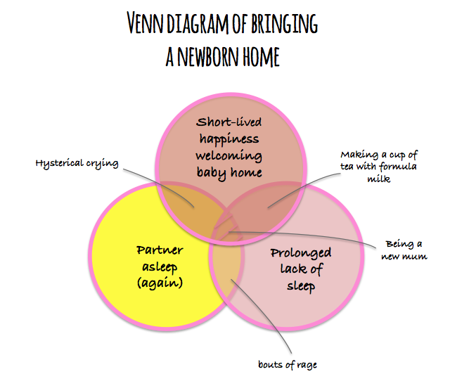 Venn bringing home a newborn